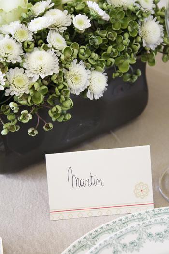 Une décoration de table classique...