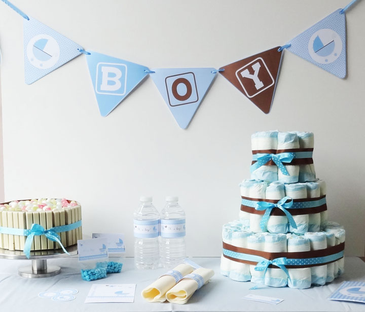 Buffet sucr et si on organisait un baby shower - Deco baby shower garcon ...