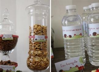 Décoration de buffet sucré | Hérisson et champignon