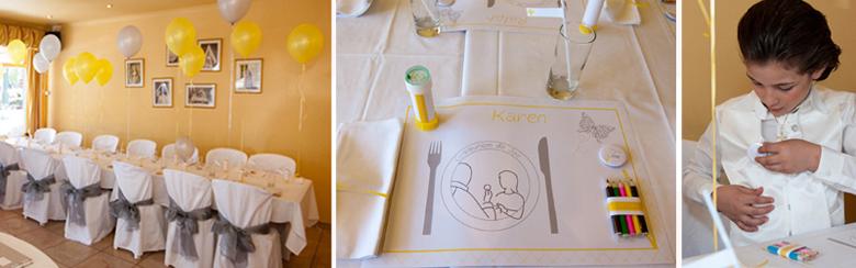 Communion joe d coration de table et sweet table - Decoration de table pour communion garcon ...