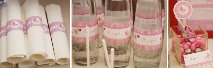 Buffet sucré | Sweet Table - Baby Shower - Oh a Girl !