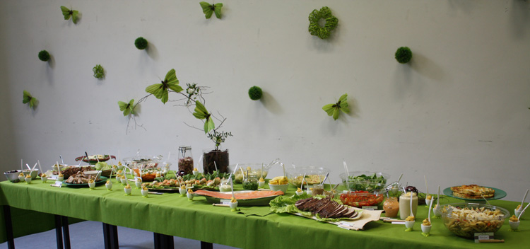 Buffet de communion - nature papillon