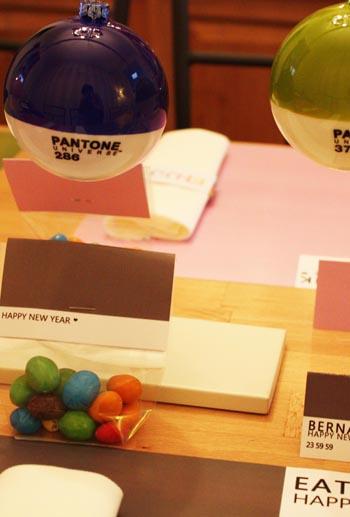 Happy New Year - Color Block - Décoration de table