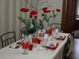 Décoration de table | Coquelicot - Fleur rouge éphémère