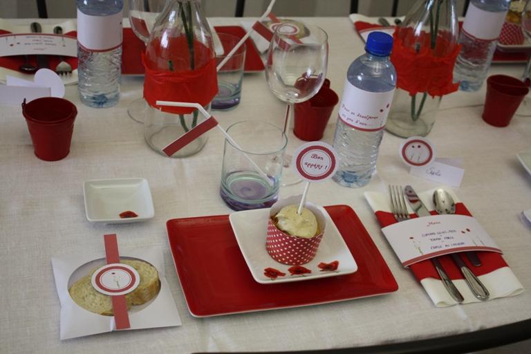 Décoration de table Coquelicot