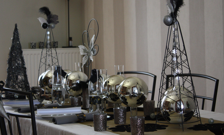 Décoration de noël - table chic