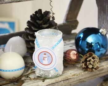 Décoration de table - Noël Glacial