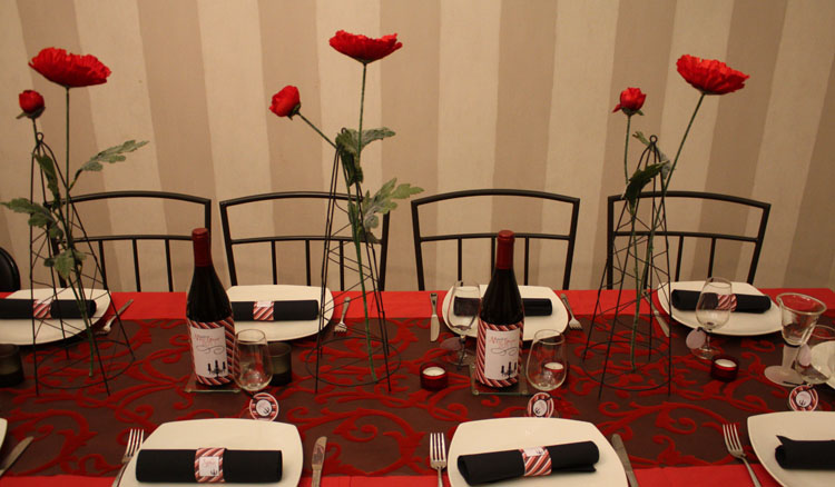 imprimable d coration de table happy new year. Black Bedroom Furniture Sets. Home Design Ideas