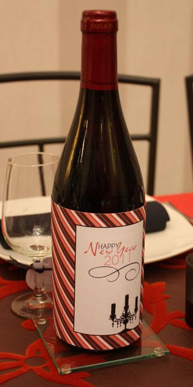 Décoration de table en rouge et noir pour la nouvelle année?