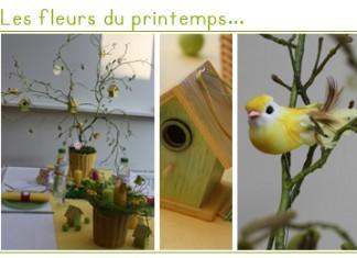 Les fleurs du printemps décoration de table