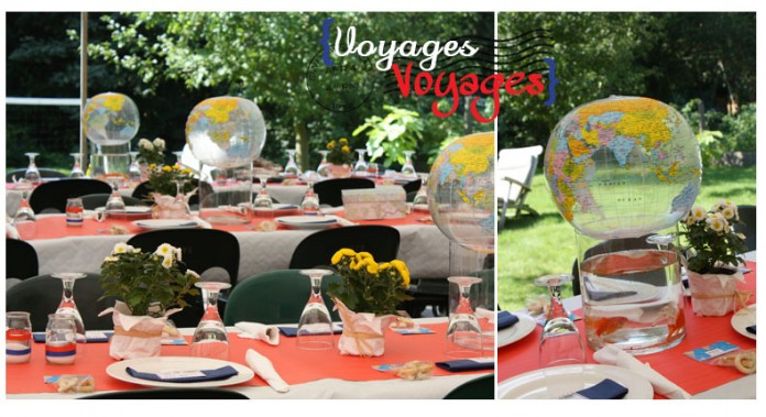 Decoration Table Anniversaire Theme Voyage
