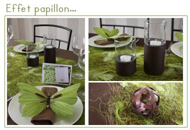 Effet papillon décoration de table