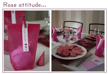 Décoration de table   Rose attitude