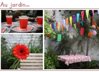Les enfants au jardin | Table en fête