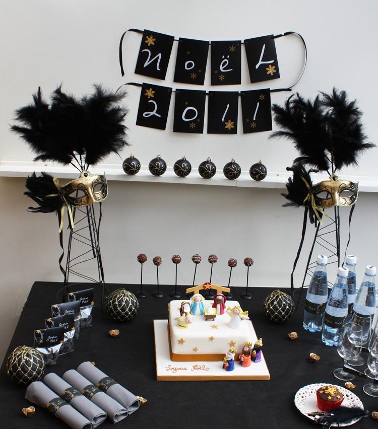 Décoration de Noël Chic - Buffet Sweet Table