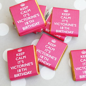 Décoration de table personnalisable Keep Calm