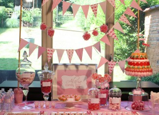 Pink Candy Bar - Un buffet gourmand tout rose