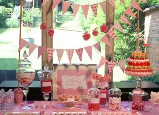 Pink Candy Bar - Un buffet gourmand tout rose