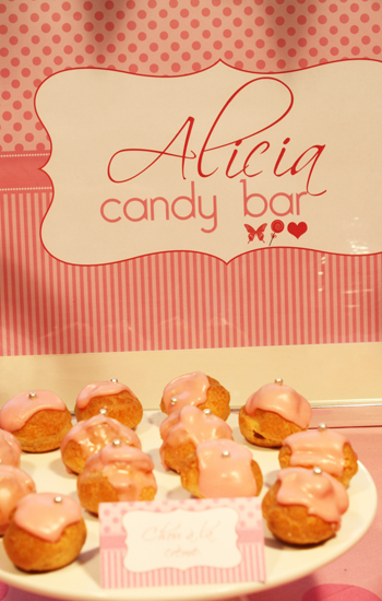 Pink candy bar pour anniversaire