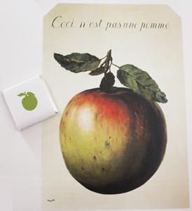 Neuhaus magritte - Tableau chapeau melon pomme verte ...