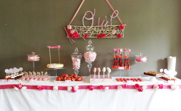 d coration de mariage rose pivoine table et buffet. Black Bedroom Furniture Sets. Home Design Ideas