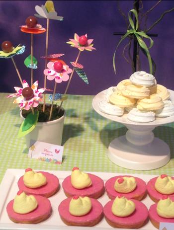Décoration de buffet fleurs printemps