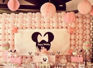 Minnie Mousse Party - Décoration de buffet d'anniversaire tout en rose