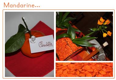 Mandarine | Décoration de table