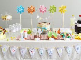 Décoration de buffet | Pâques à Pois