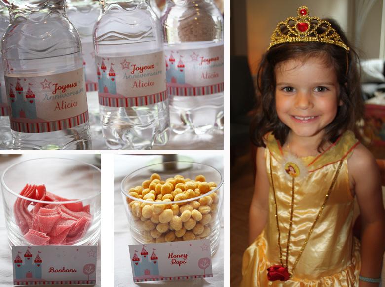 Table anniversaire Princesse