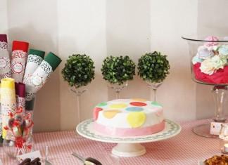 Tea Time coloré | Décoration de buffet