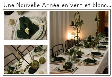 Une nouvelle année en vert et blanc | Décoration de table