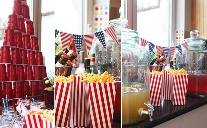 Decoration Usa Anniversaire : Décoration de buffet usa