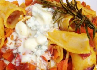 Pâtes au potimarron et à la Pancetta