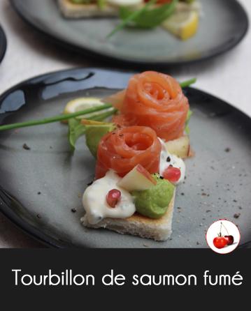 Tourbillon de saumon fumé