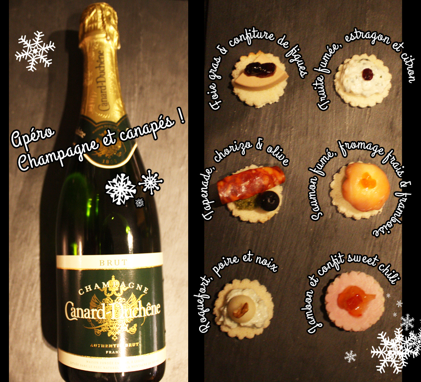 Champagne et canapés