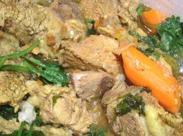 Curry de veau aux épinard