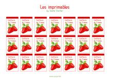 Les imprimables : Confiture de fraises