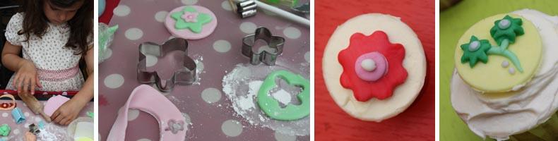 comment faire une fleur en pâte à sucre - décoration cupcake