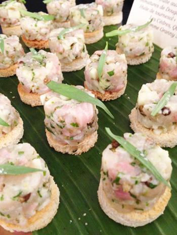 Déguster les produits de la mer québécoise à la résidence officielle du Québec à Bruxelles