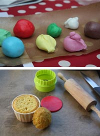 Pâte à sucre - décore cupcake