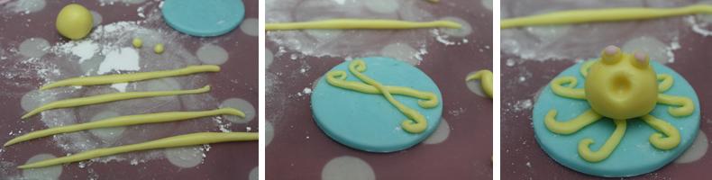 comment faire une pieuvre en pâte à sucre - décoration cupcake