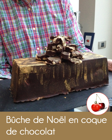 buche de Noël coque chocolat