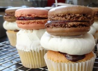 cupcake aux macarons