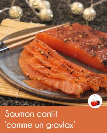 Saumon confit gravlax