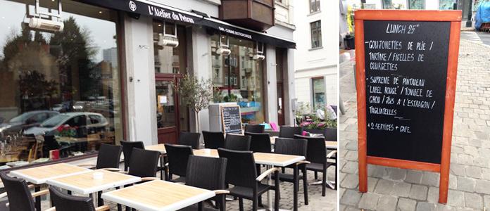 L atelier de petrus restaurant bruxelles for Atelier de cuisine bruxelles
