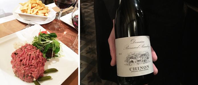 La Branche d'olivier, association Chinon et tartare de bœuf | Restaurant Bruxelles Uccle