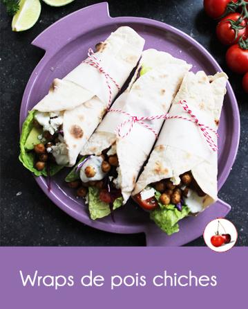 Wraps de pois chiches, une recette végétarienne