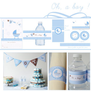 Baby shower bleu