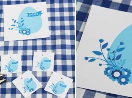 Imprimable | Une décoration de Pâques dans les tons bleus
